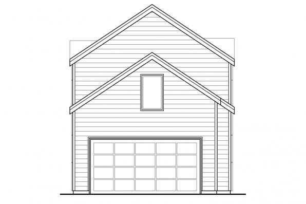 Narrow Lot House Plan - Larkspur 30-880 - Rear Elevation