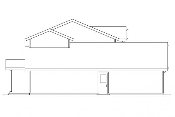 Narrow Lot House Plan - Paisley 30-852 - Left Elevation
