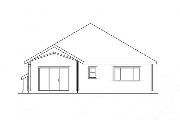 Narrow Lot House Plan - Springdale 30-155 - Rear Elevation