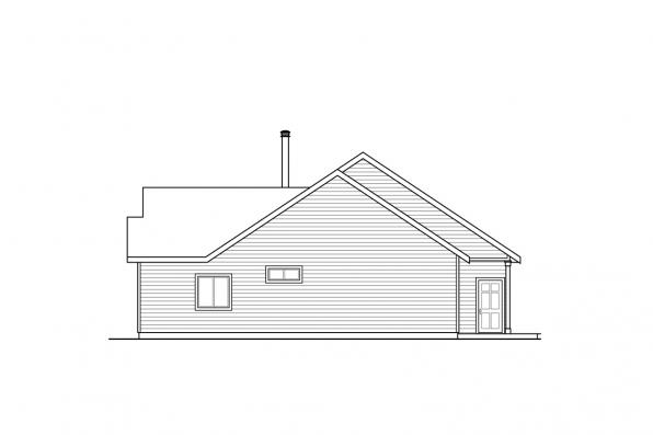 One Story House Plan - Hayden 30-981 - Right Elevation