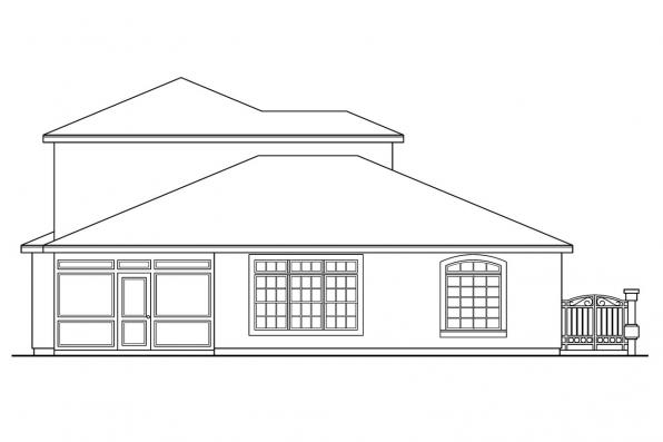Pool House Plan - Coronado 11-029 - Rear Elevation