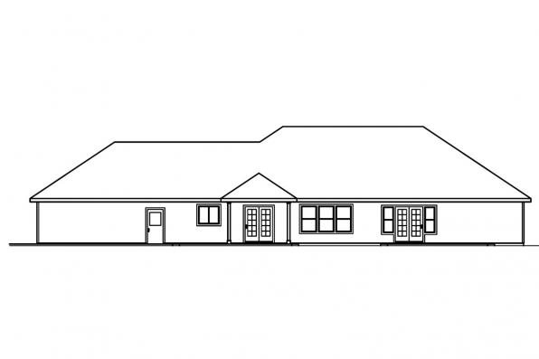 Ranch Home Plan - Brennon 30-359 - Rear Elevation