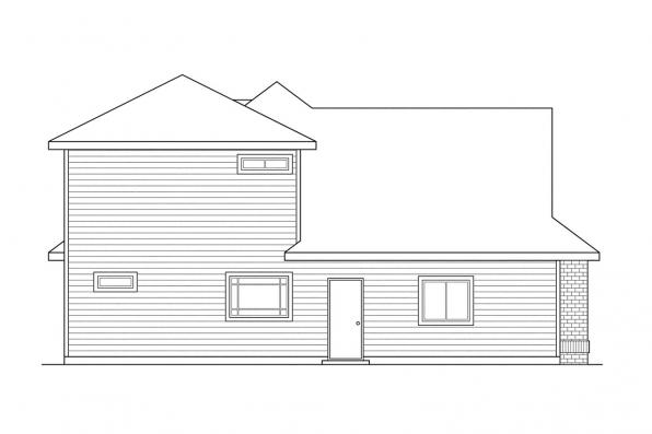 Ranch House Plan - Albany 30-047 - Left Elevation