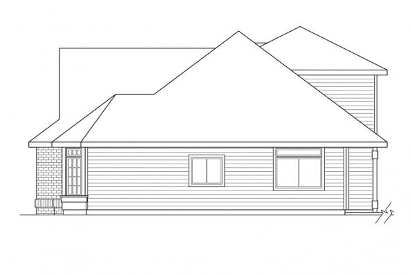 Ranch House Plan - Albany 30-047 - Right Elevation