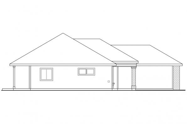 Ranch House Plan - Alden 30-904 - Left Elevation