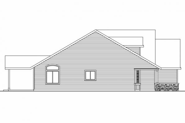 Ranch House Plan - Allenspark 30-700 - Left Elevation