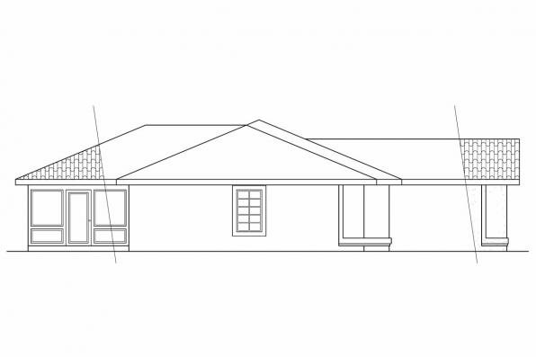 Ranch House Plan - Anton 11-080 - Left Elevation