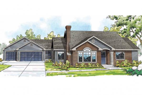 Ranch House Plan - Ardella 30-785 - Front Elevation