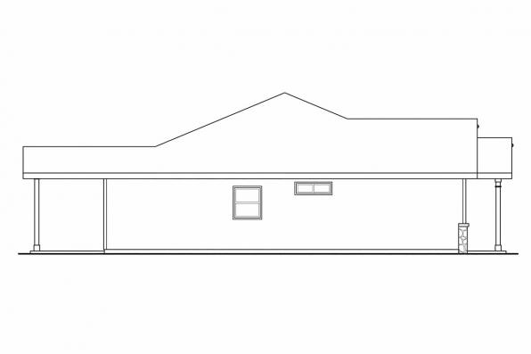 Ranch House Plan - Bandon 30-758 - Left Elevation