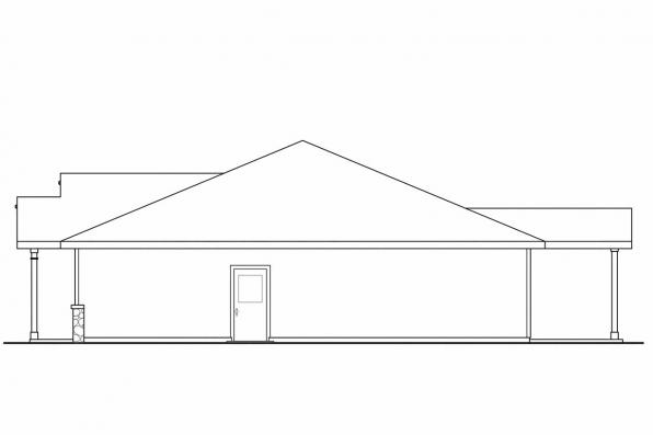 Ranch House Plan - Bandon 30-758 - Right Elevation