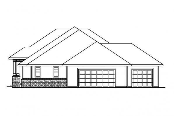 Ranch House Plan - Belvedere 30-280 - Right Elevation
