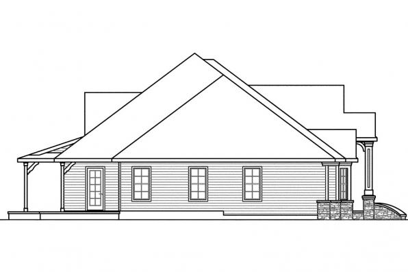 Ranch House Plan - Bentley 30-560 - Left Elevation