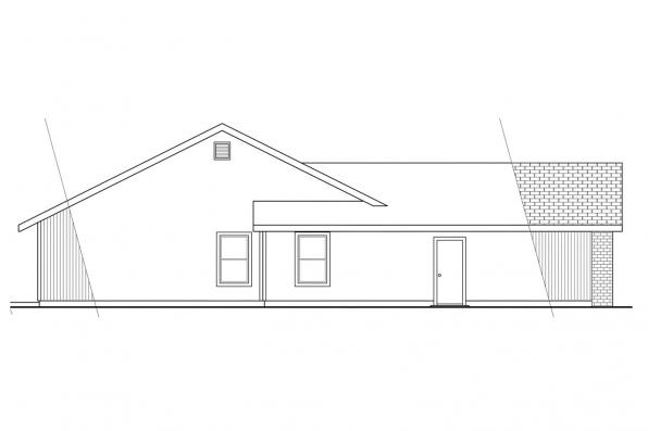 Ranch House Plan - Briggsdale 30-084 - Left Elevation