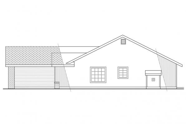 Ranch House Plan - Briggsdale 30-084 - Right Elevation