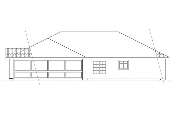 Ranch House Plan - Brisbane 11-016 - Rear Elevation