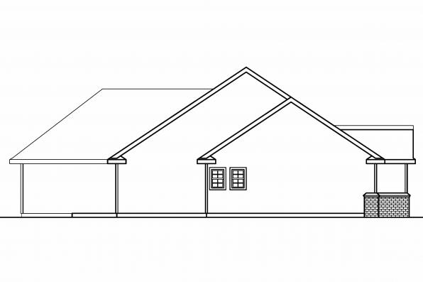Ranch House Plan - Burnham 30-481 - Left Elevation