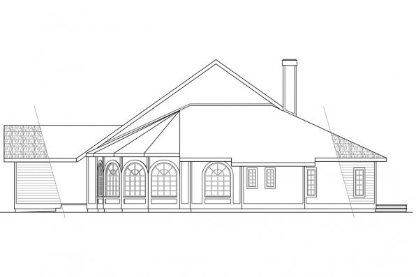 Ranch House Plan - Candelaria 10-014 - Right Elevation