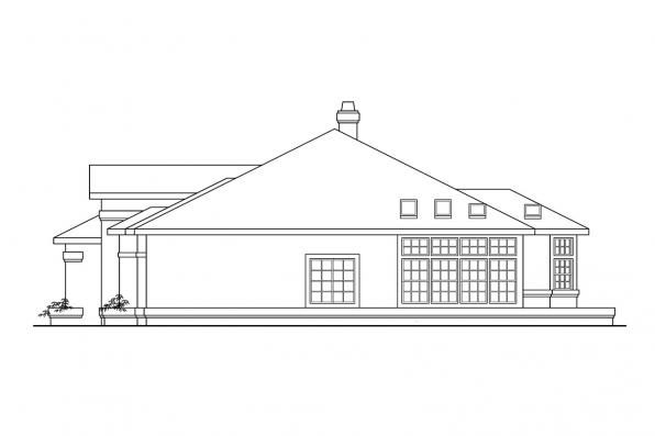 Ranch House Plan - Cibola 10-202 - Right Elevation