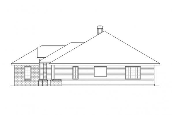 Ranch House Plan - Clarkston 30-080 - Right Elevation