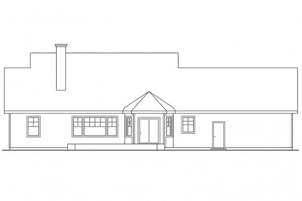 Ranch House Plan - Clearheart 10-410 - Rear Elevation