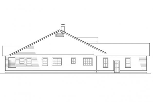 Ranch House Plan - Cortland 10-195 - Left Elevation