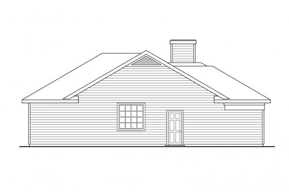 Ranch House Plan - Coulee 10-220 - Left Elevation