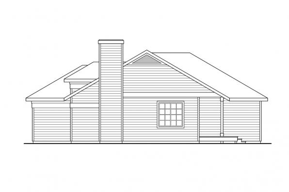 Ranch House Plan - Coulee 10-220 - Right Elevation