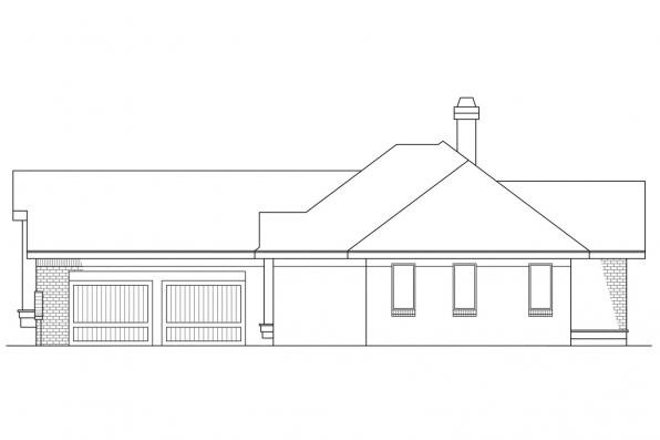 Ranch House Plan - Danbury 10-036 - Right Elevation