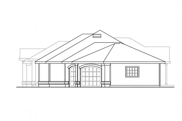 Ranch House Plan - Dawson 30-140 - Right Elevation
