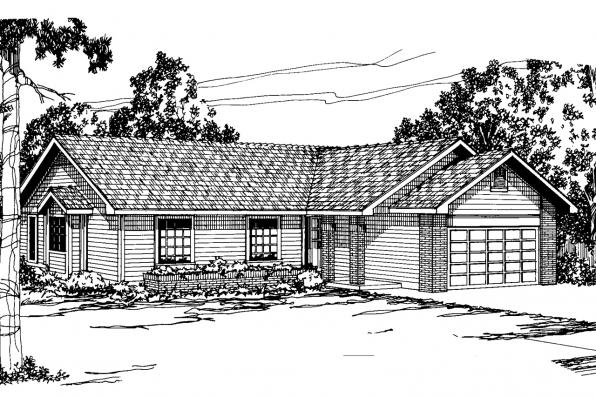Ranch House Plan - Easton 10-133 - Front Elevation