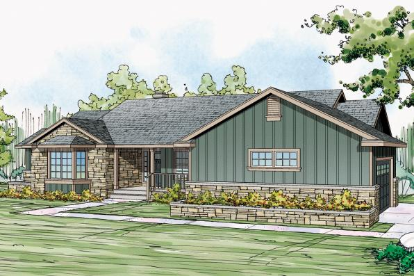 Ranch House Plan - Eastport 10-548 - Front Elevation