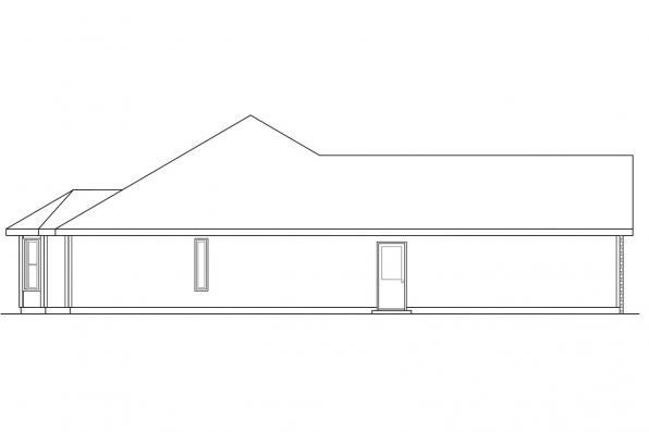 Ranch House Plan - Eldon 30-076 - Left Elevation