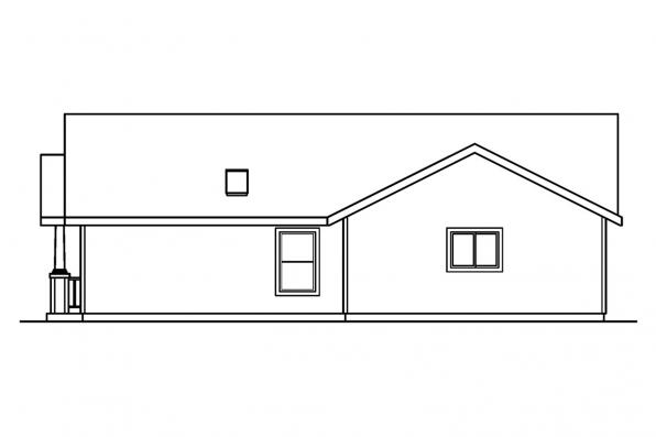 Ranch House Plan - Elwood 30-293 - Right Elevation