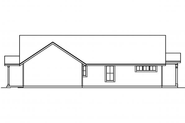 Ranch House Plan - Evelyn 30-480 - Left Elevation