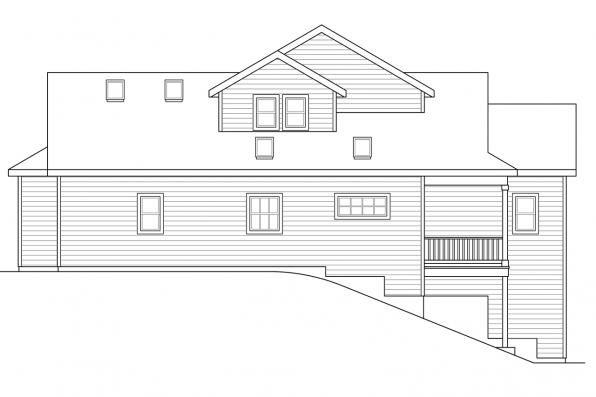 Ranch House Plan - Farmington 31-068 - Rear Elevation