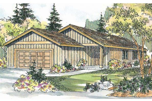 Ranch House Plan - Greer 30-484 - Front Elevation