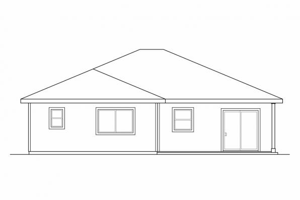 Ranch House Plan - Harlequin 30-759 - Rear Elevation