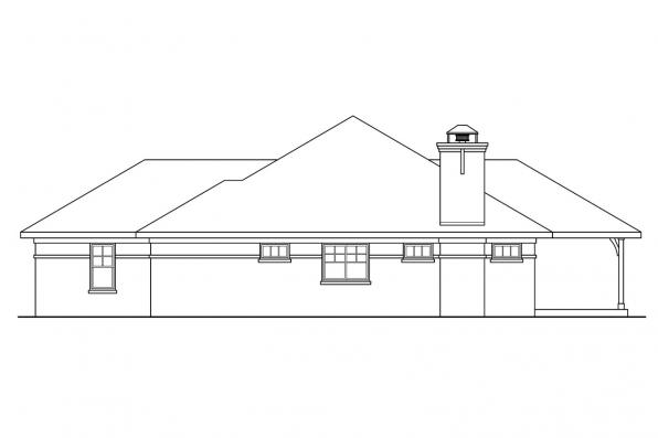 Ranch House Plan - Heartshaven 10-525 - Right Elevation