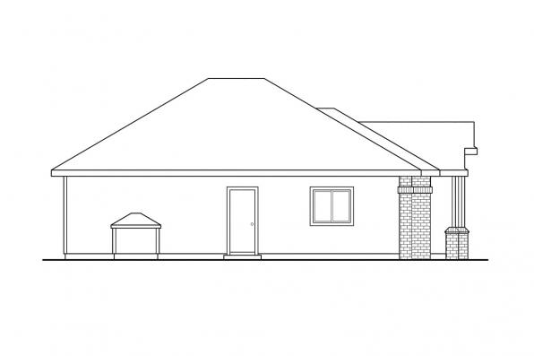Ranch House Plan - Hillsboro 30-057 - Left Elevation