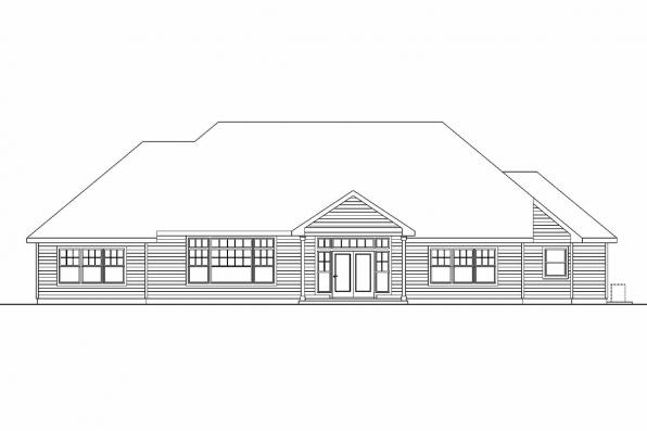 Ranch House Plan - Innsbrook 30-689 - Rear Elevation