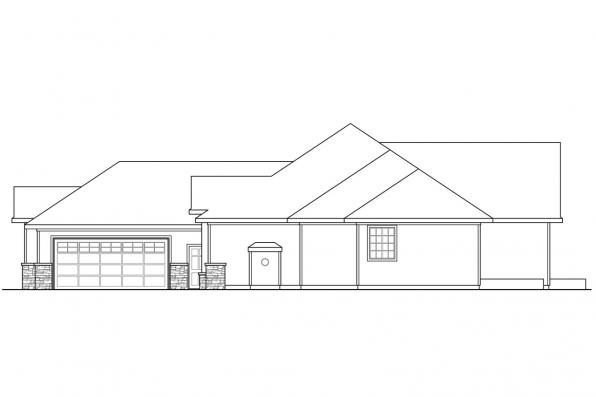 Ranch House Plan - Irvington 30-493 - Left Elevation