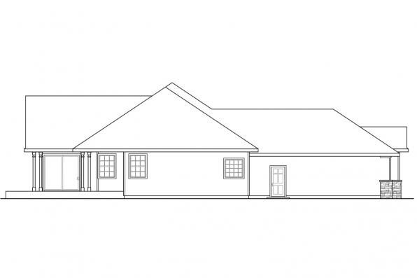 Ranch House Plan - Irvington 30-493 - Right Elevation