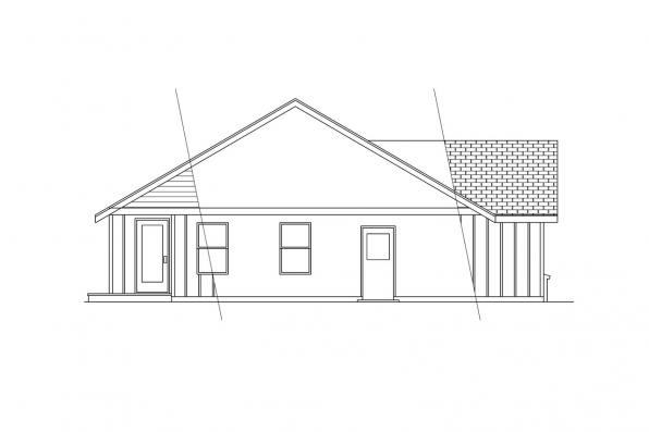 Ranch House Plan - Jerico 10-042 - Left Elevation