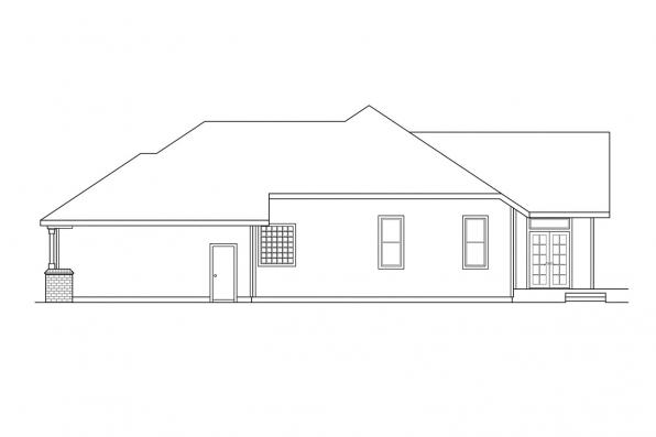 Ranch House Plan - Jessica 30-049 - Right Elevation