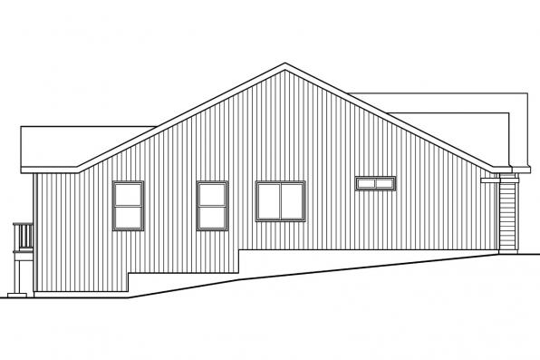 Ranch House Plan - Kayleigh 30-549 - Left Elevation