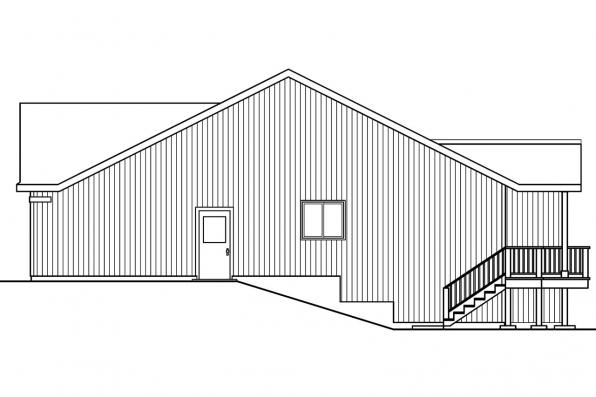 Ranch House Plan - Kayleigh 30-549 - Right Elevation