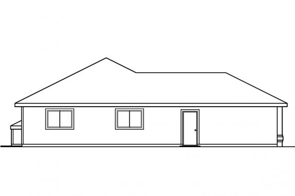 Ranch House Plan - Keizer 30-230 - Left Elevation