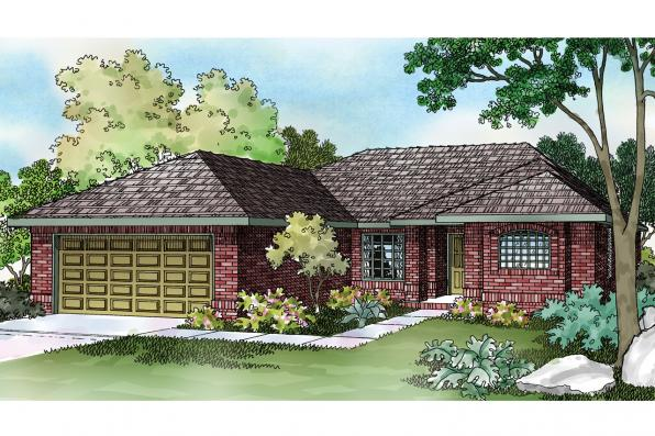 Ranch House Plan - Lamar 11-106 - Front Elevation