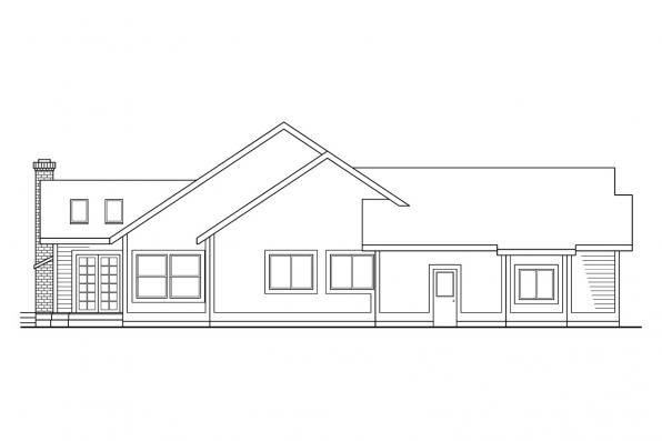 Ranch House Plan - Lasson 10-203 - Left Elevation
