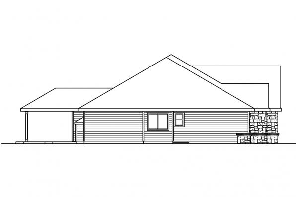 Ranch House Plan - Littlefield 30-717 - Left Elevation